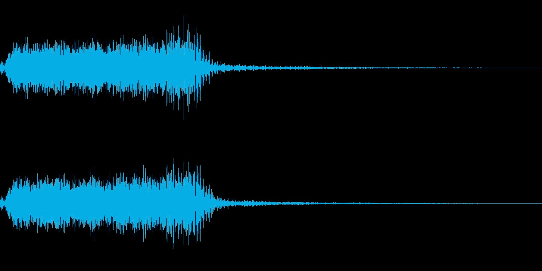 ギュィーーーン(ギタースクラッチ音)の再生済みの波形