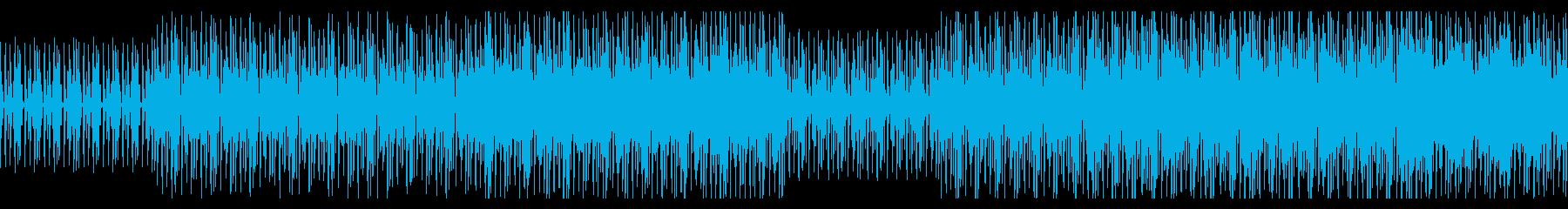 疾走感 緊迫感 テクノBGMの再生済みの波形