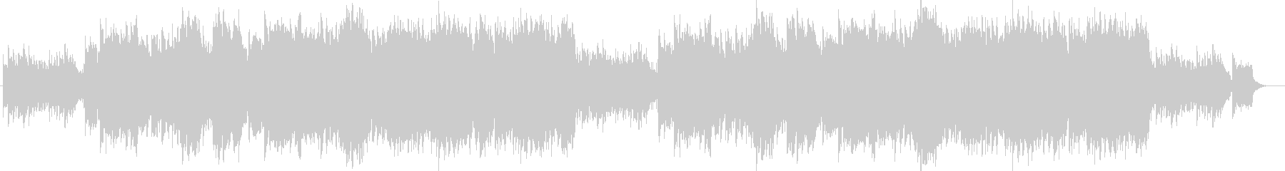 ピアノによるノスタルジックなバラードの未再生の波形