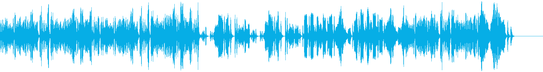 せわしないリコーダー曲の再生済みの波形
