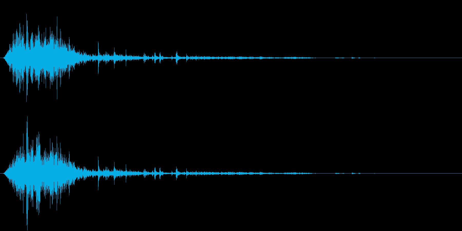 【生録音】ゴミの音 3 投げ捨てるの再生済みの波形
