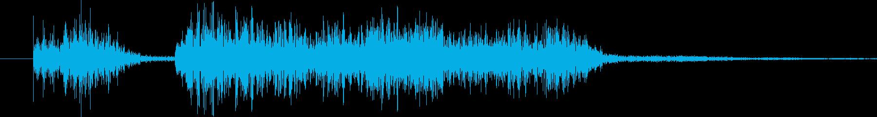 スロットなどのゲームにありそうな効果音の再生済みの波形