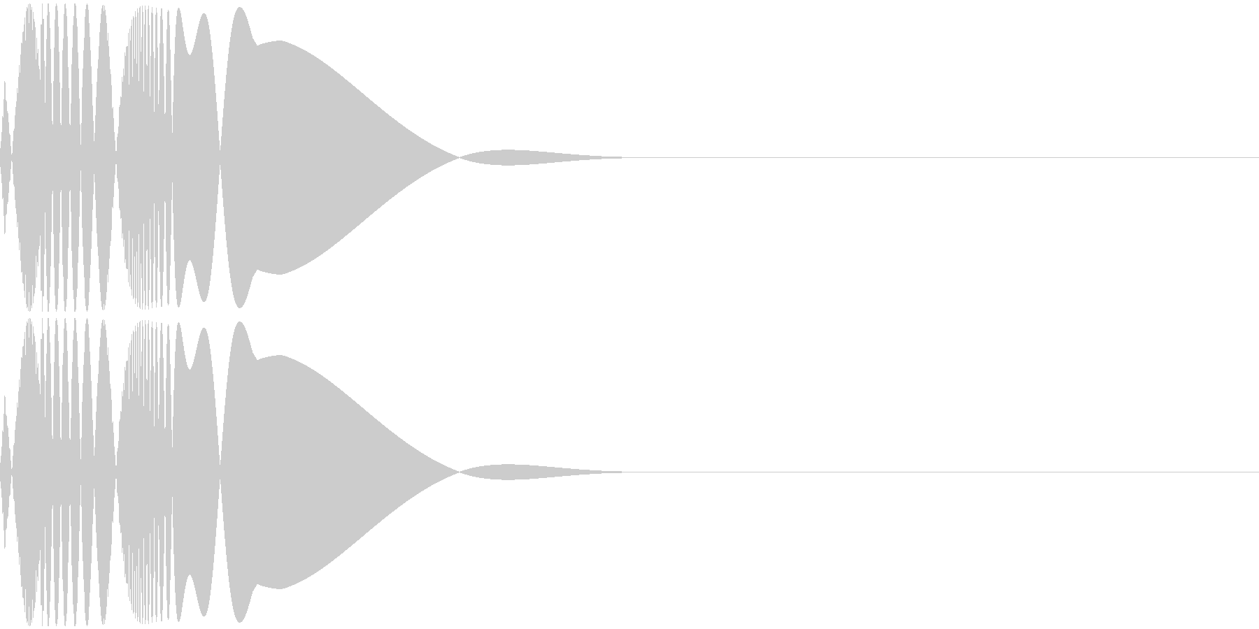 ピュン!(ファミコン/キック/低音の未再生の波形