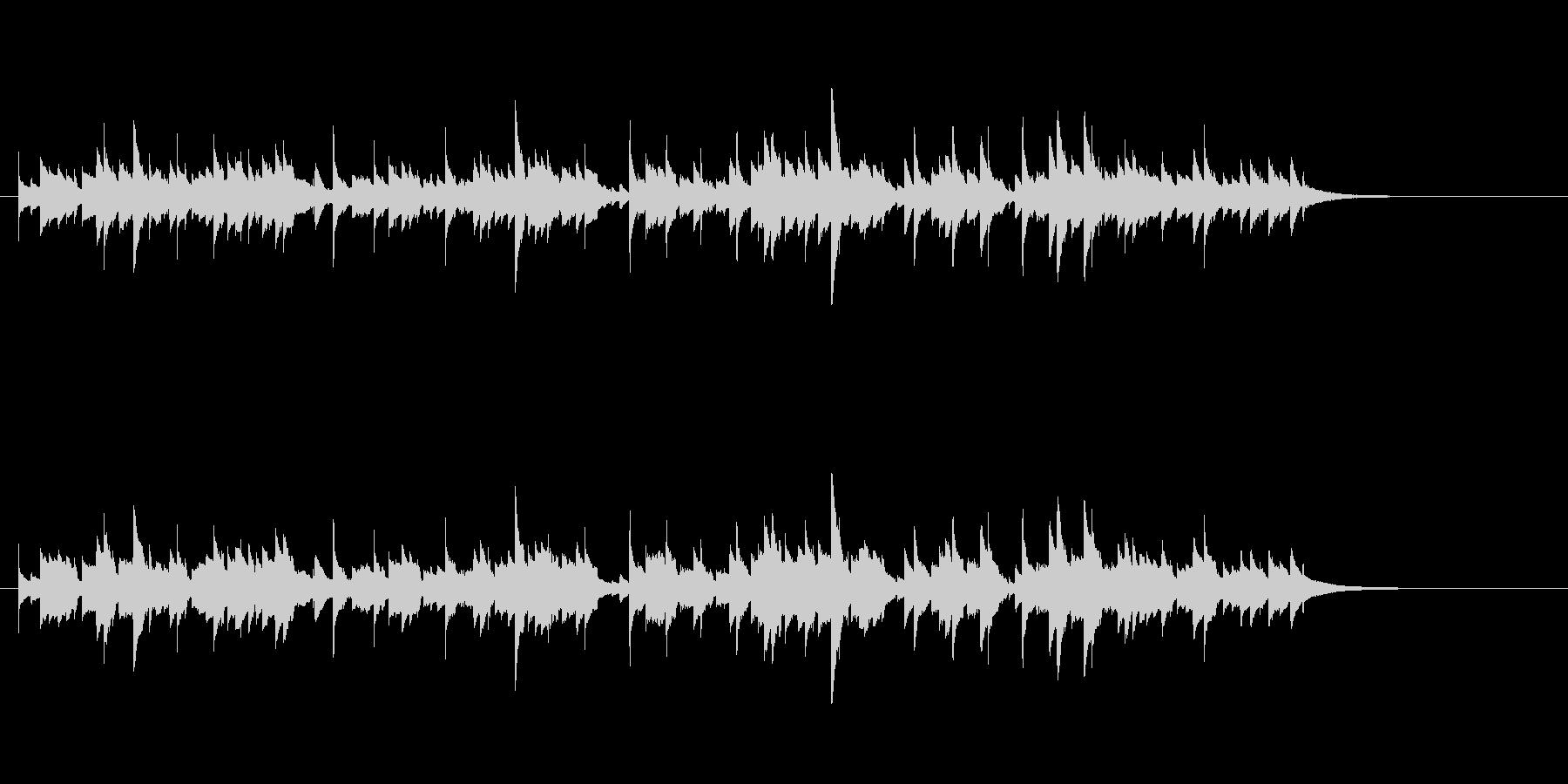 ウクレレ1本のみ(アルペジオ系メロディ)の未再生の波形