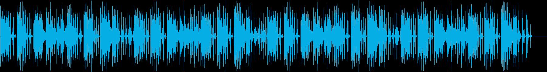 コミカルで気の抜ける曲の再生済みの波形