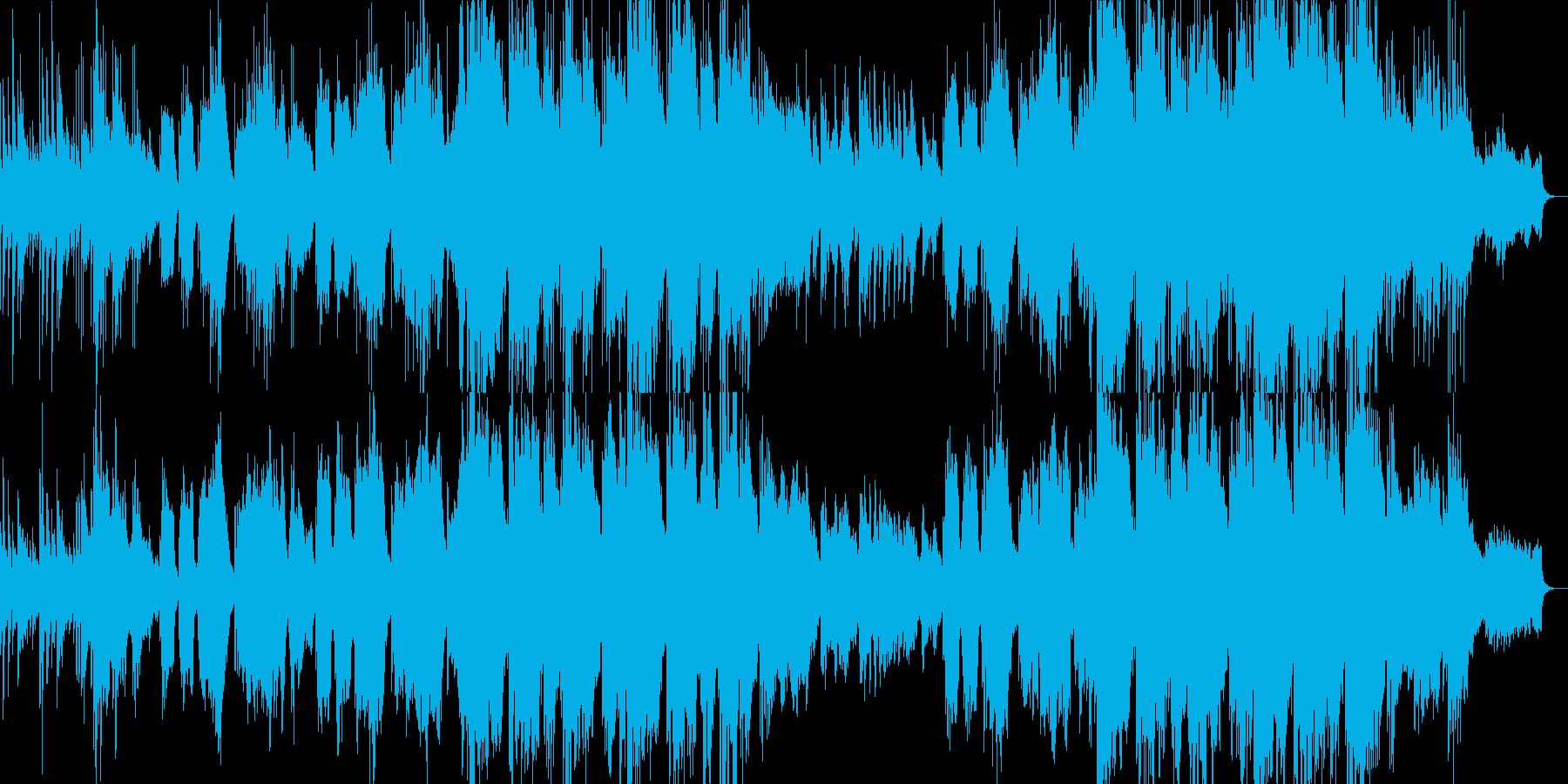 ピアノとバイオリンの感動的なバラードの再生済みの波形