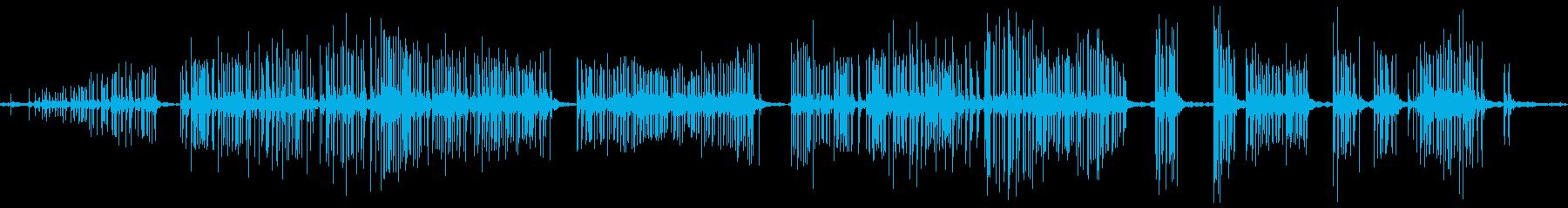 リッピングキャンバススムース静かの再生済みの波形