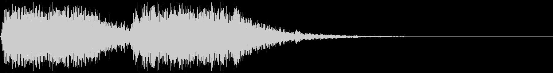 ブワーンブワーンという音の未再生の波形