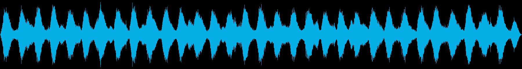 ループ再生可能!3分間の波音の再生済みの波形