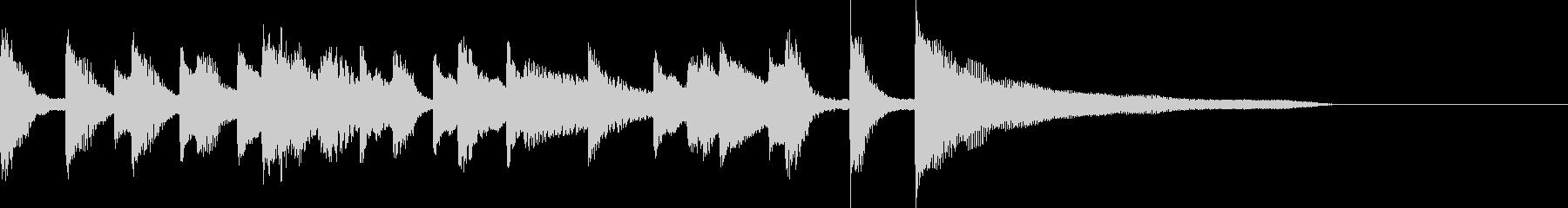 ピアノ ポップでかわいいジングルの未再生の波形