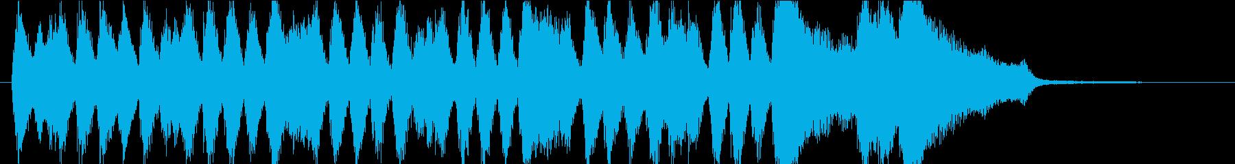 オーケストラのファンファーレ。メロディ無の再生済みの波形