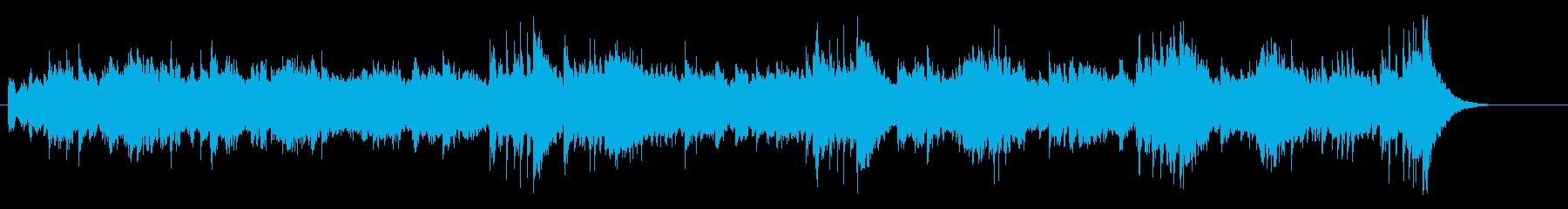 重厚なノンフィクション系のマイナーBGMの再生済みの波形