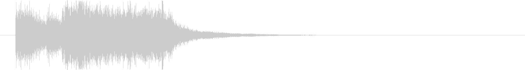 結果発表!なファンファーレの未再生の波形