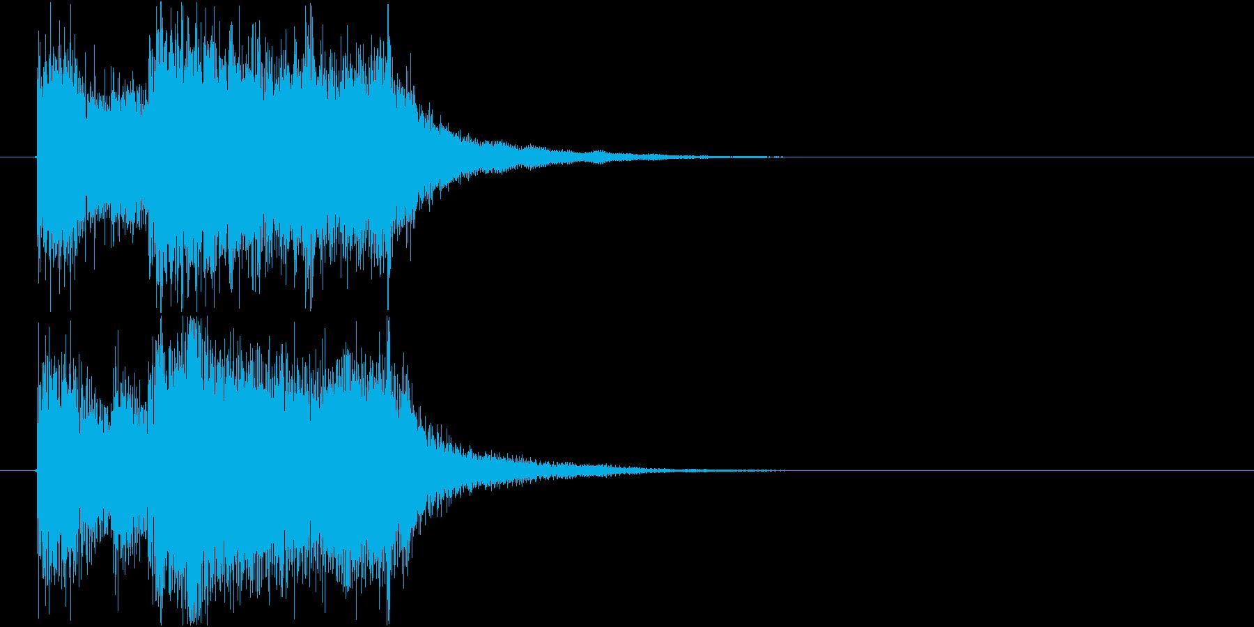 結果発表!なファンファーレの再生済みの波形