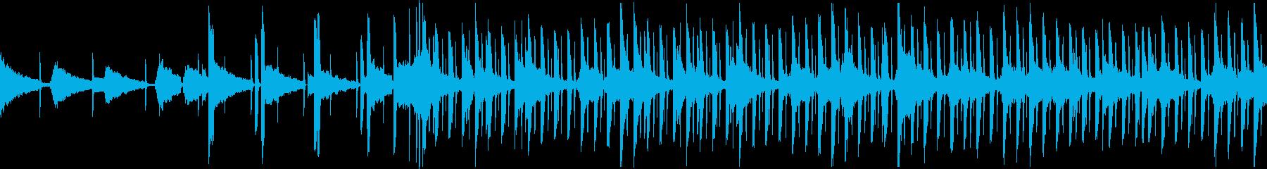 大人っぽいエレピとアコギのオシャレループの再生済みの波形