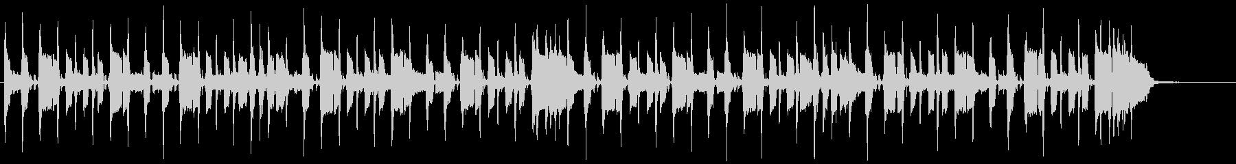エレキギターのリフが印象的なバンドBGMの未再生の波形