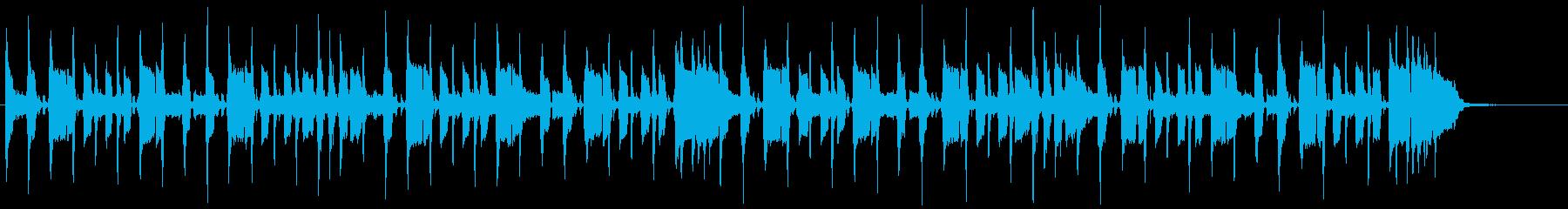 エレキギターのリフが印象的なバンドBGMの再生済みの波形