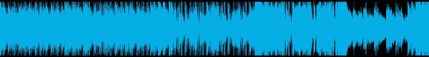 レトロなテクノ・Synthwaveループの再生済みの波形
