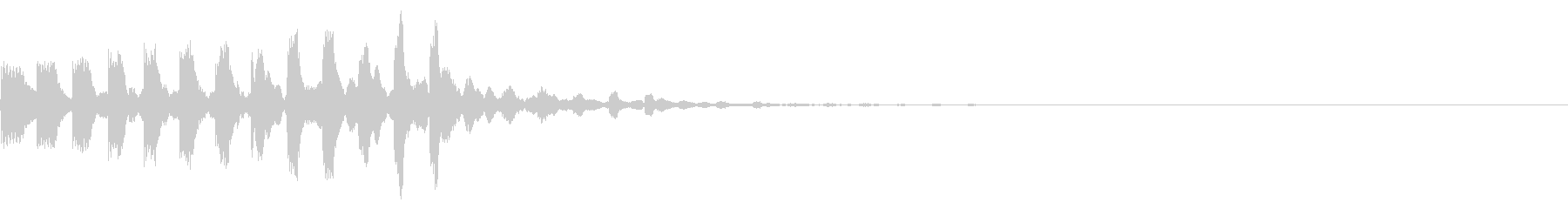 シンプルな効果音 シンセの半音階の未再生の波形