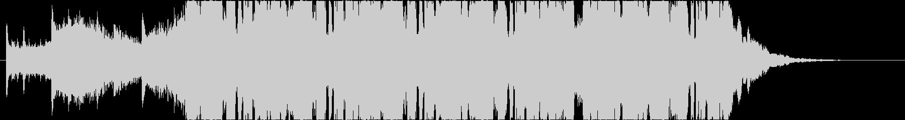 無機質でクールな30秒BGMの未再生の波形