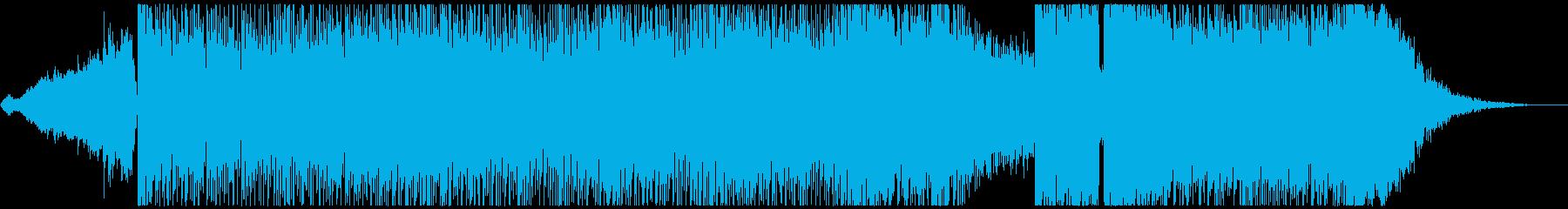 カッコいい和風のブレイクビーツ楽曲の再生済みの波形