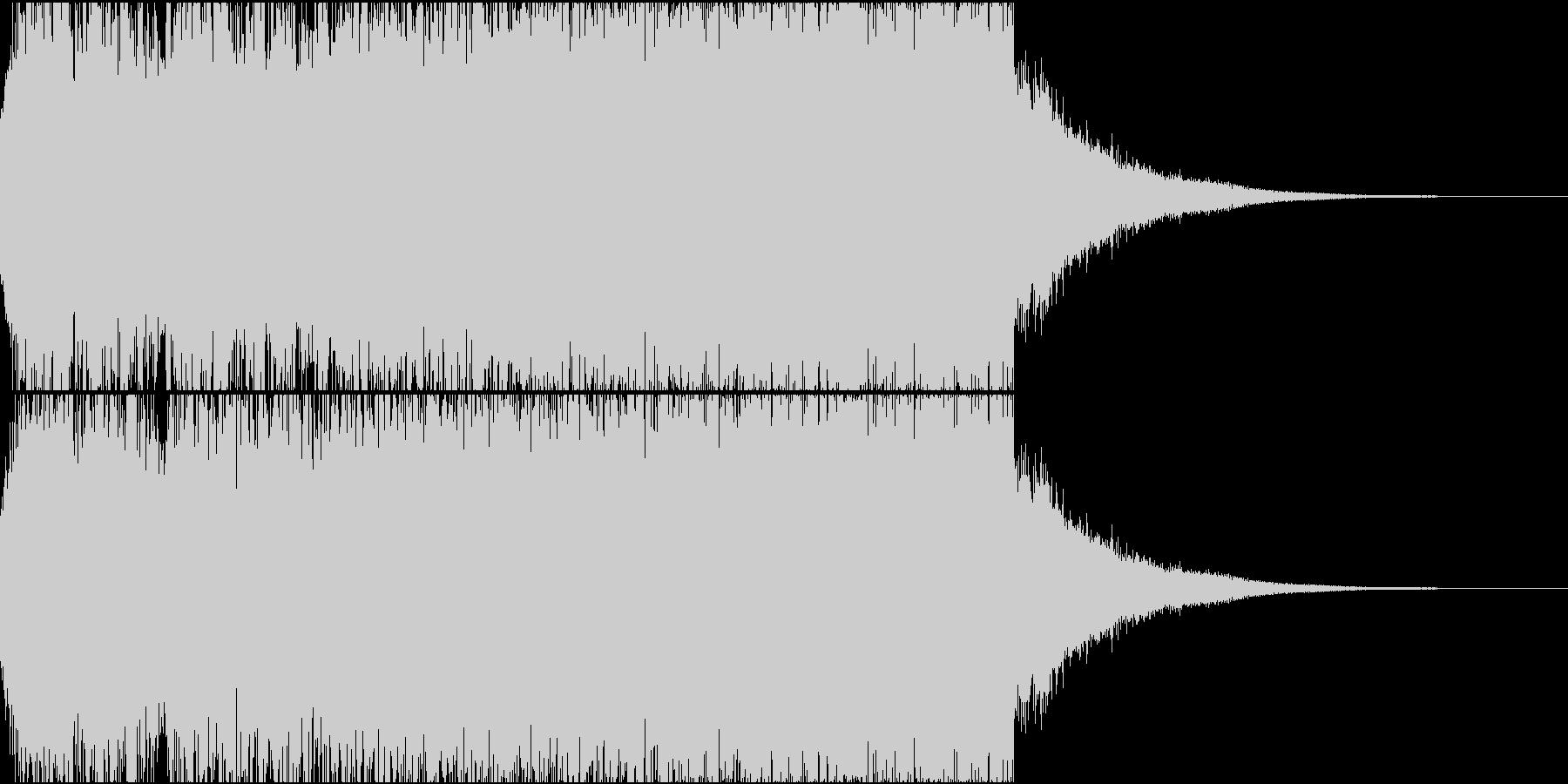 恐怖の予兆・不気味さを表現したジングルの未再生の波形
