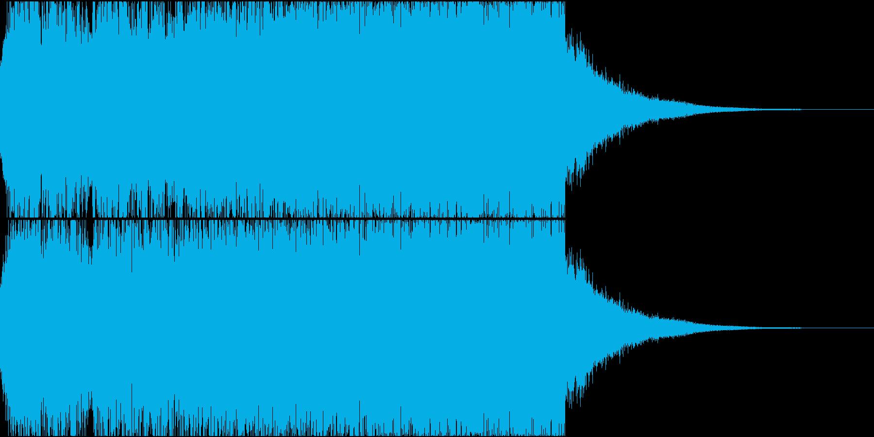 恐怖の予兆・不気味さを表現したジングルの再生済みの波形