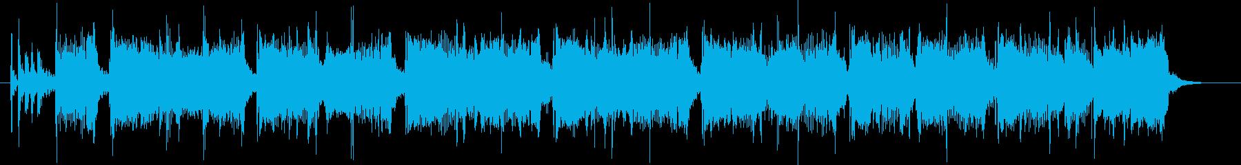 ジングル;ファンキーなR&Rギターのリフの再生済みの波形