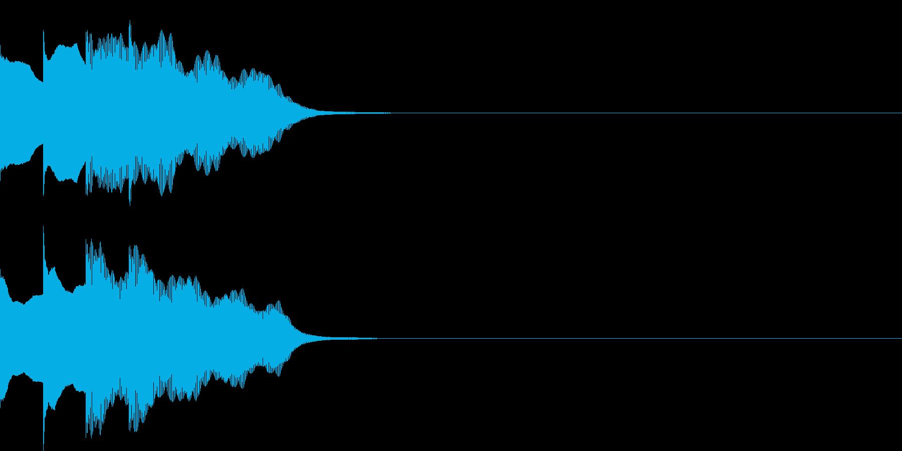 多用途効果音-07E(放送チャイム下降)の再生済みの波形