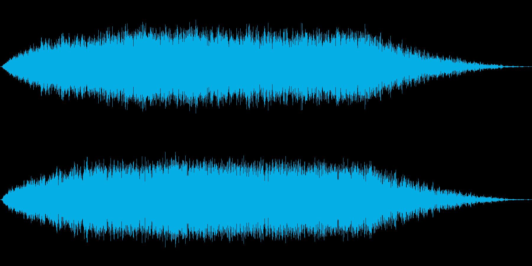 上昇 シンセロング01の再生済みの波形