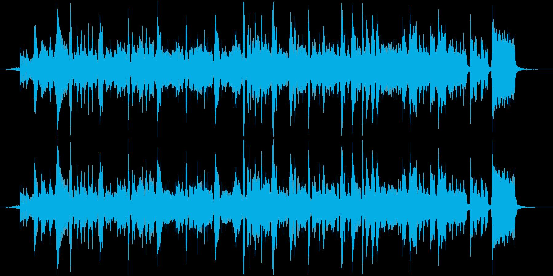 スイカをテーマにした楽曲の再生済みの波形