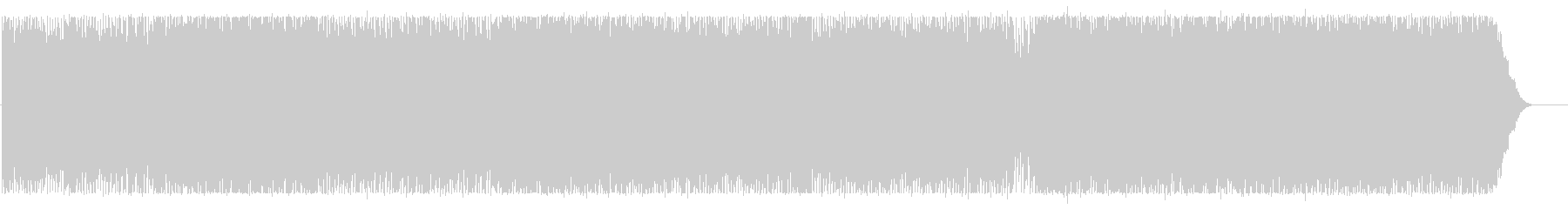 爽やかで明るいイメージのBGMの未再生の波形