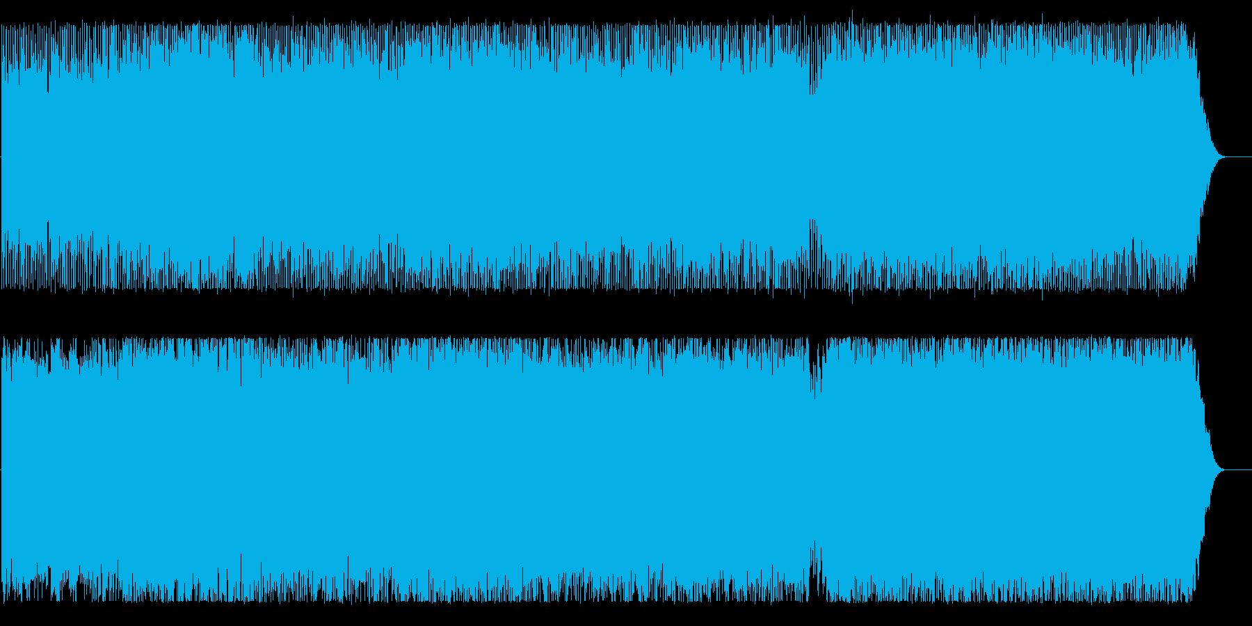 爽やかで明るいイメージのBGMの再生済みの波形