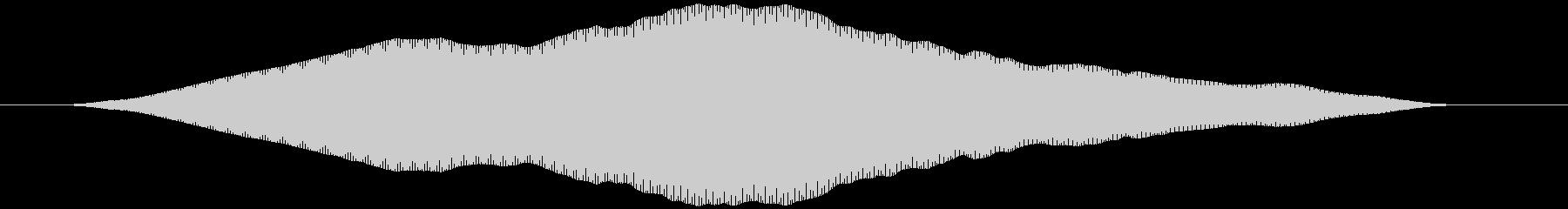 口笛を吹く(ヒュォゥ)の未再生の波形