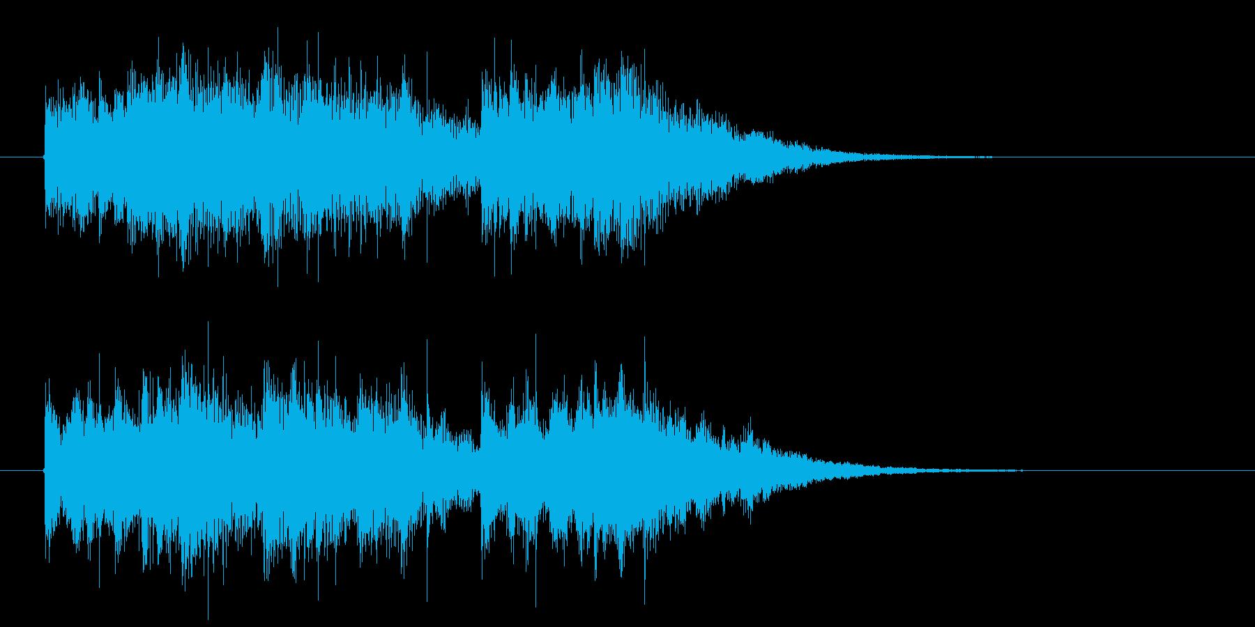 近未来的で神秘的なSFジングルの再生済みの波形