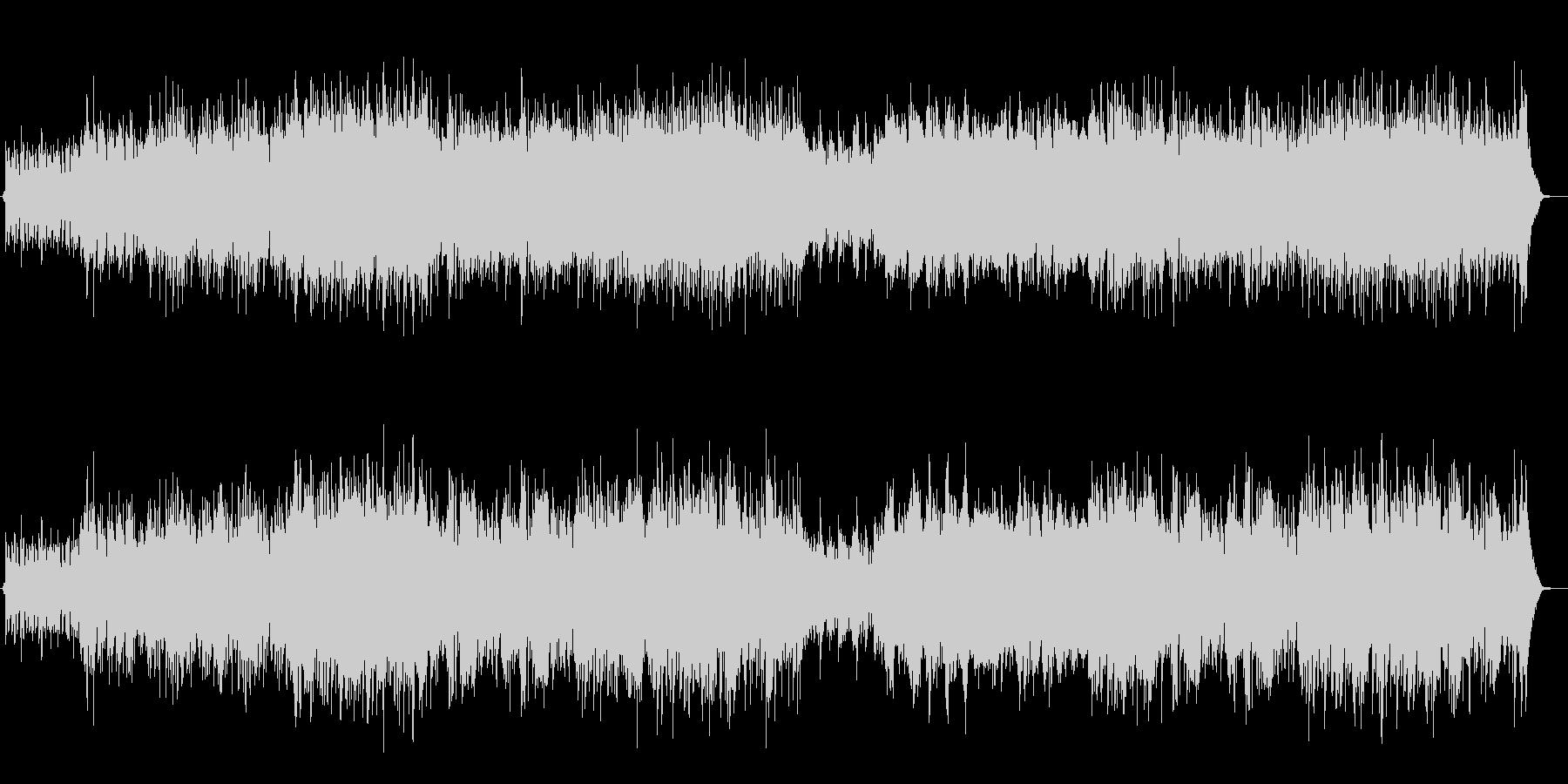 ハイテンポベースとピアノアドリブジャズ曲の未再生の波形