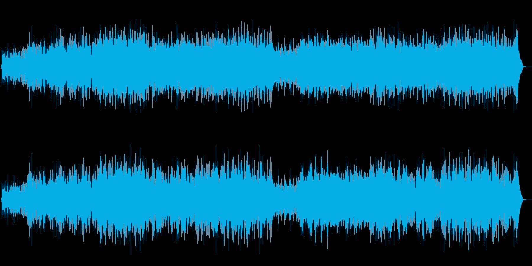 ハイテンポベースとピアノアドリブジャズ曲の再生済みの波形