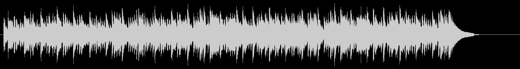 ほのぼのアコースティックなピアノBGMの未再生の波形