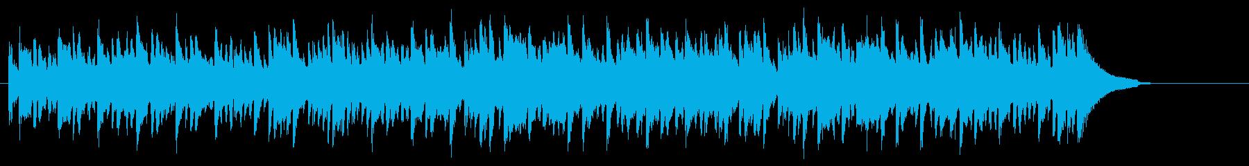 ほのぼのアコースティックなピアノBGMの再生済みの波形
