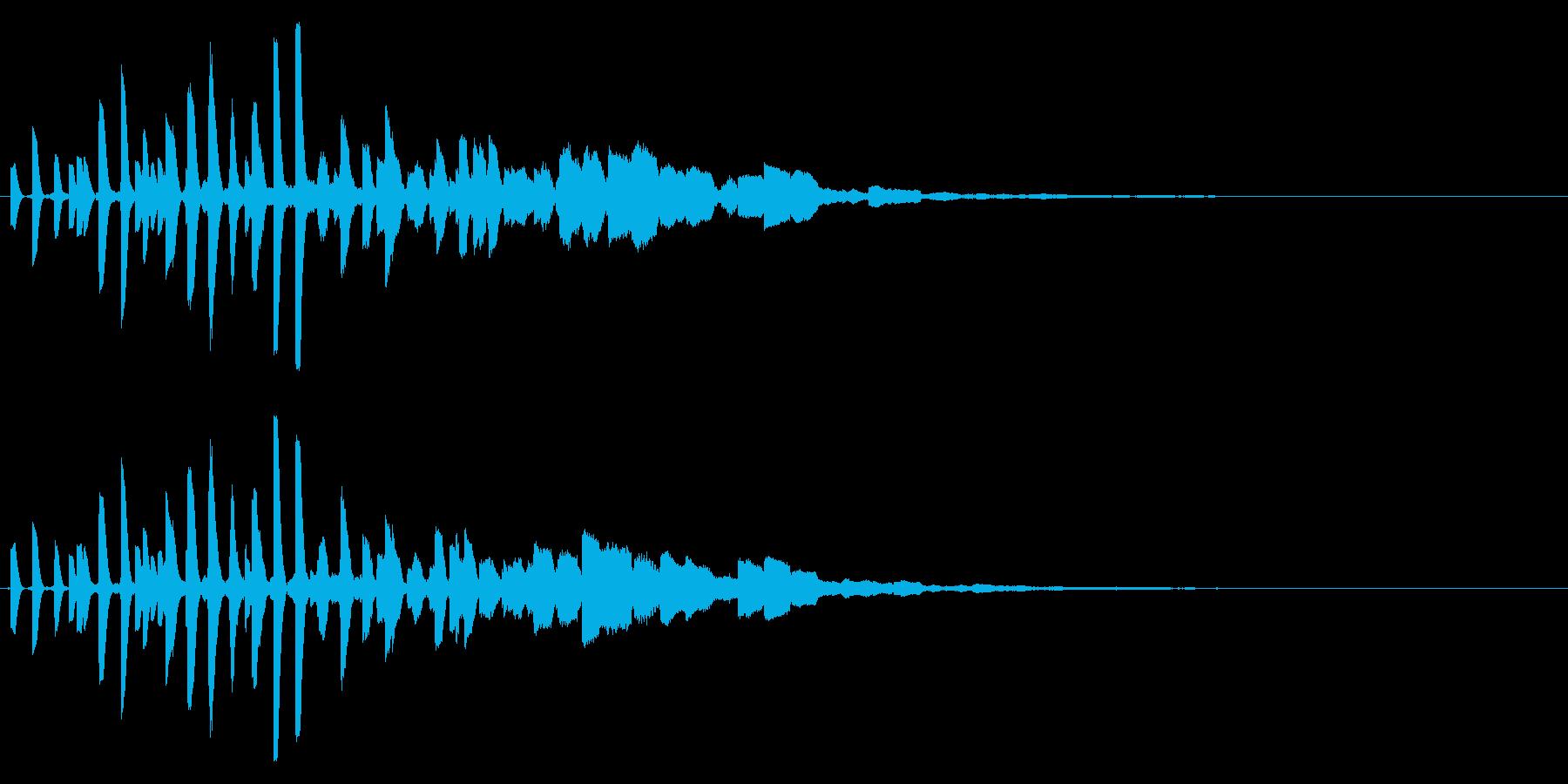 ピッピッと不思議な雰囲気の電子音の再生済みの波形