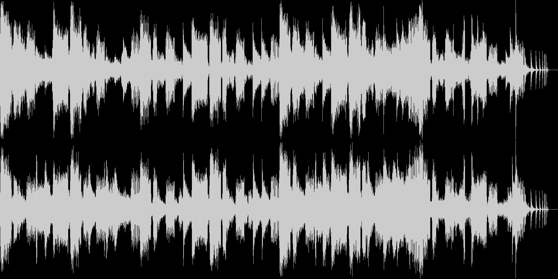 「和」のイメージと電子音で作った楽曲の未再生の波形