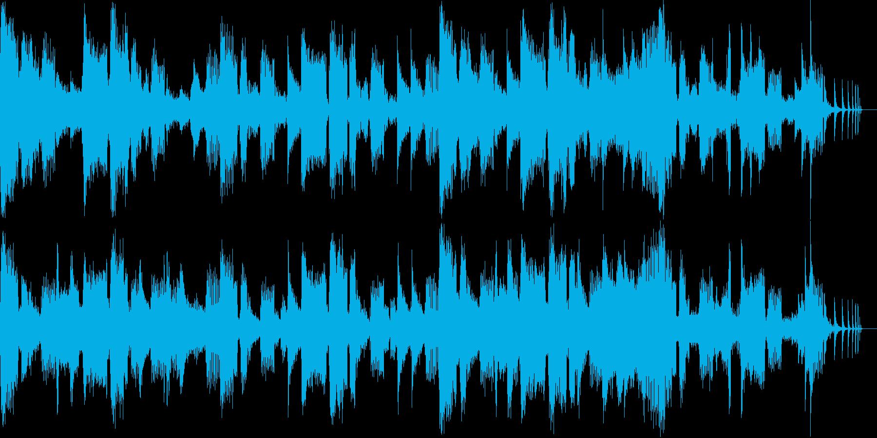 「和」のイメージと電子音で作った楽曲の再生済みの波形