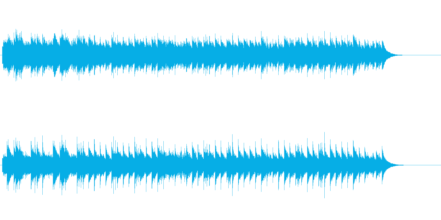 哀愁のアコースティック・ギター・ソロの再生済みの波形