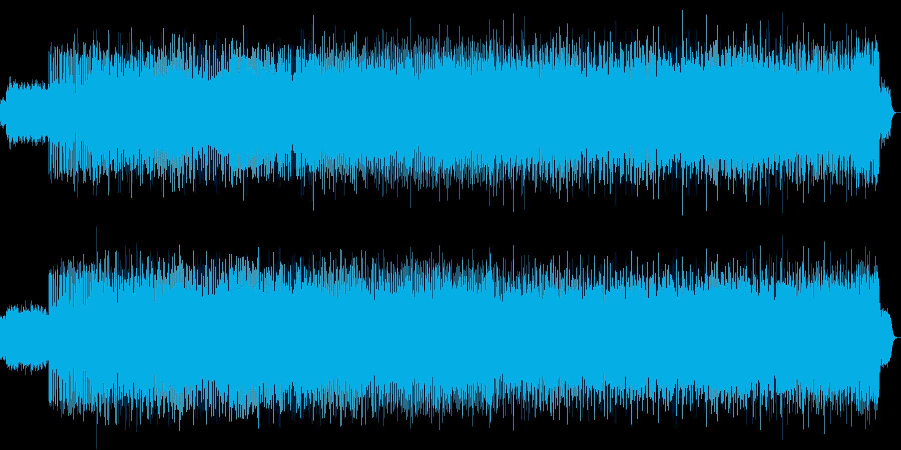ミステリアスなシンセサウンドの再生済みの波形