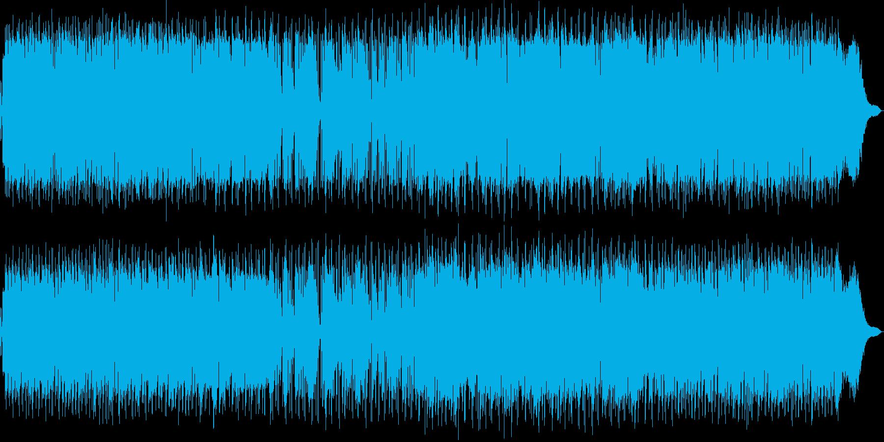 ムードある夏のミュージックの再生済みの波形
