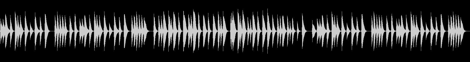 結婚式感動の手紙朗読に切ないオルゴール曲の未再生の波形