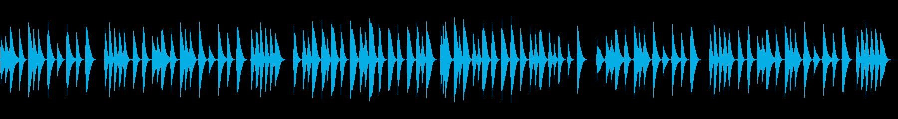結婚式感動の手紙朗読に切ないオルゴール曲の再生済みの波形