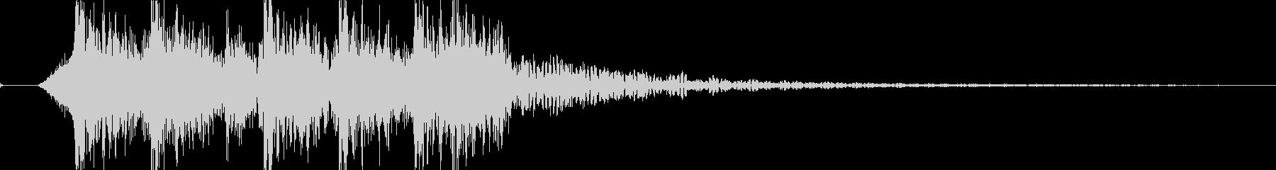 迫力あるロック・メタルのジングル 01の未再生の波形