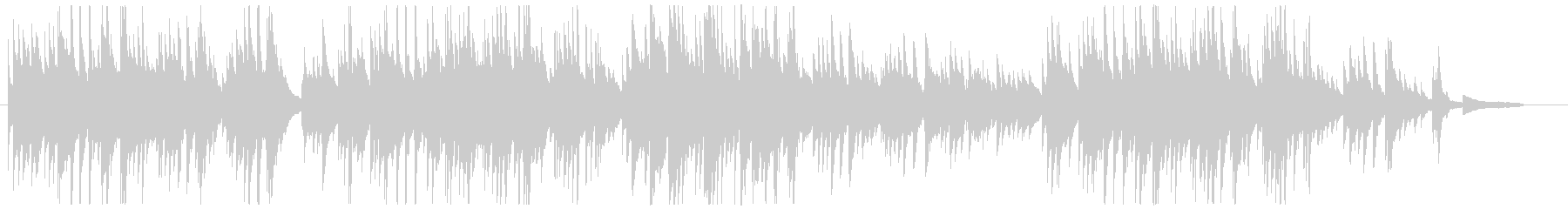 切ないピアノソロの未再生の波形