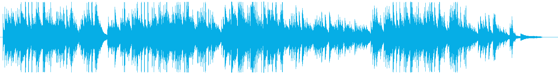 切ないピアノソロの再生済みの波形
